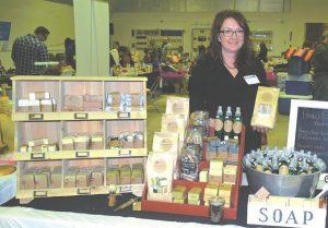 Above, Gaerwen Herben, owner of Raw Essentials Handmade Soap in High Prairie.