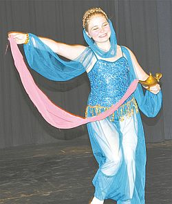 Alyse Rothwell was part of a beginner ballet group which performed Arabian Nights.