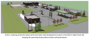 Peavey Mart releases artist's drawing of new building