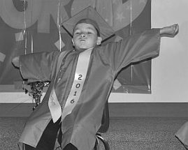 The many faces of a kindergarten graduation