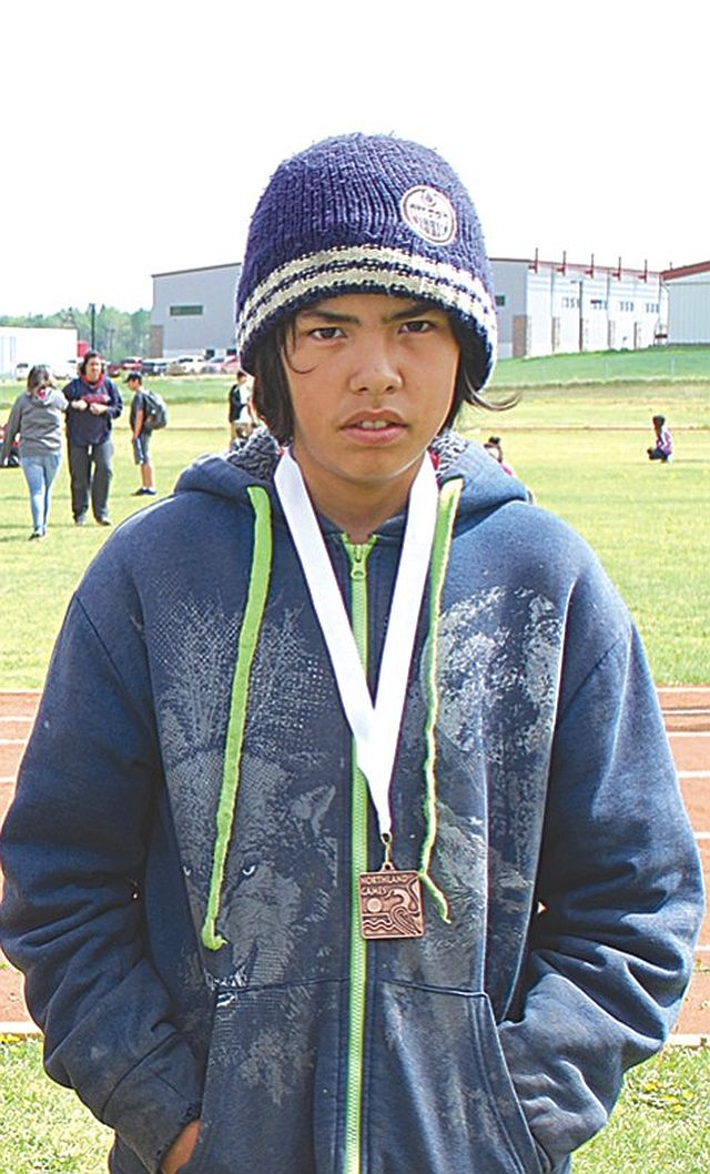 Grouard Northland School's Ethan Lalonde placed first in the Junior 400-Metres, and third in Junior Long Jump.