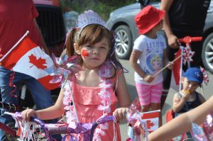 Canada Day parade in Kinuso