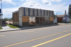 Walls come tumbling down at Richards Lumber