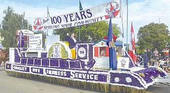 The host High Prairie Elks had their beautiful float in the parade. Honoured Royal Lady Verna Ogg is aboard the entry. The Elks have been serving our great country over 100 years.