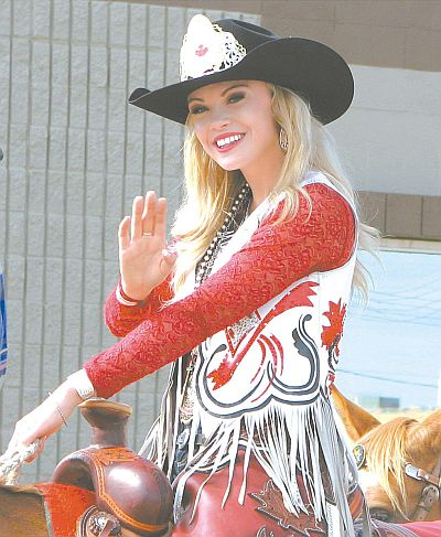 Miss Rodeo Canada, High Prairie's own Samantha Stokes, drew loud applause along the parade route. The victim of some unfortunate accidents, it was nice to see her ride. A week or two ago, it was uncertain.