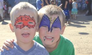 PIC – Painted Faces at the Penny Carnival