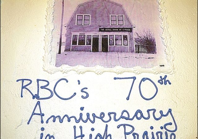 RBC in High Prairie banks 70 years of service