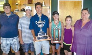 Cunningham and Gauchier junior golf winners