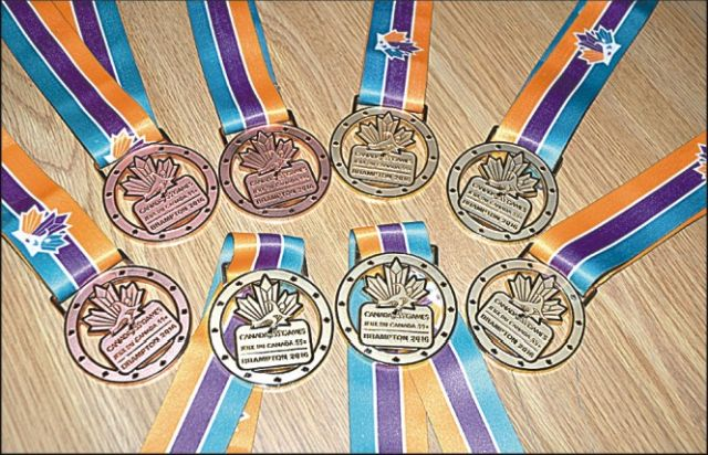 A close look at the Canada 55 Plus Games medals won by High Prairie and area athletes.