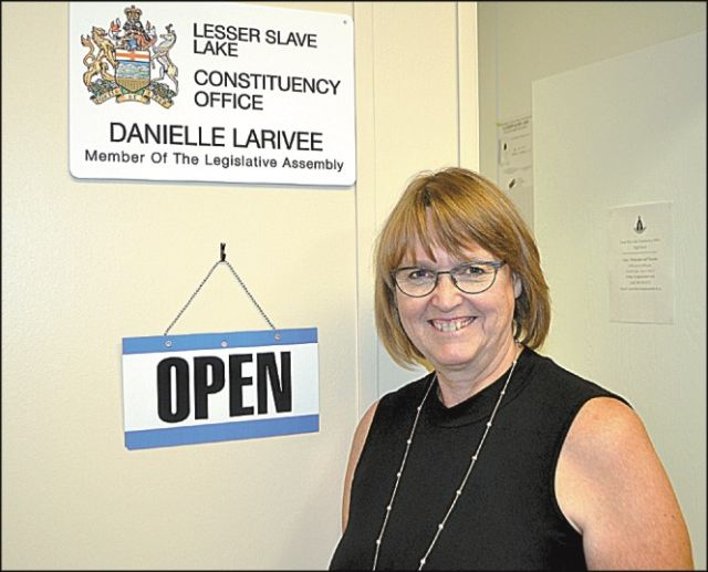 Cathy Wilcox is the new constituency assistant in the High Prairie office of Lesser Slave Lake MLA Danielle Larivee.