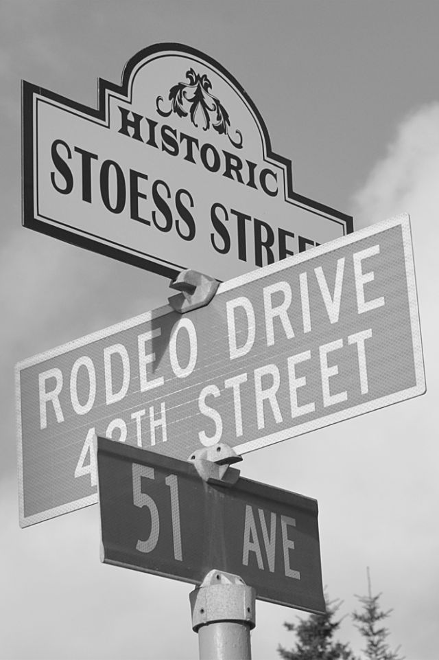 Historic Stoess Street is recognized by this sign. But who was Stoess?