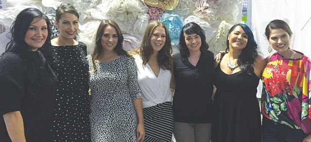 Ladies night is in full swing as, left to right, Shanda Willier, Linsay Willier, Tara Shantz, Madison Rose, Shannon Ferguson and Lori Anderson pose with co-owner Lisa Baroldi at RFG Fashion Show and Gala.