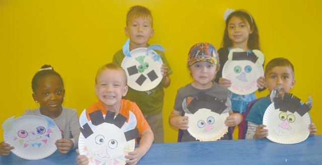 Above are the 3-5-year-old members of the TD Summer Reading Club at the High Prairie Municipal Library. In the front row, left-right, are Sangaie Duwana, Lexyn Callio, Dutch Degner, and Dax Peters. In the back row are Jacob Hesse, left, and Kaydence Chalifoux.