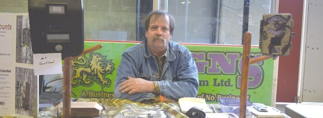 James Tupper, owner of Carcajou Mounts and living in Hawk Hills (near Hotchkiss), was at the annual High Prairie Gun and Sportsman Show during the weekend of April 16-17 to sell his product.