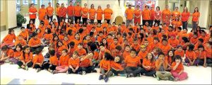 Joussard School painted a sea of orange