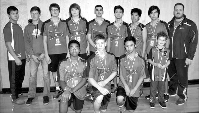 The E.W. Pratt men's volleyball team placed second in the 2016 Pratt volleyball tournament. In the front row, left-right are Malcolm Sondrup, Cole Isaac, Roland Villa, and Brady Park. In the back row, left-right, are assistant coaches Davis Isaac and Blake Cisaroski, starting line Brandon McNabb, Tanner Stokes, Ahmed Mouallem, Abdullah Sharkawi, Michael Ablog, Keaton Auger and head coach Pat Larade.