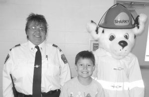 Sparky the Fire Dog visits Joussard School