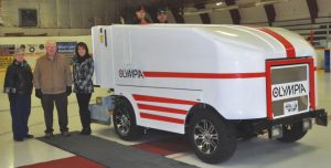 PIC – New Olympia ice resurfacer arrives at arena