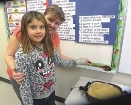 Joussard School – K students learn with help of ice cream cones