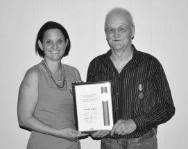 Ebbett awarded Sovereign's Medal for Volunteers