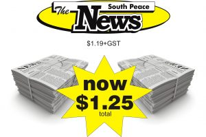 South Peace News is now only $1.25 (includes GST)