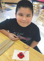 Joussard School – Students making poppies