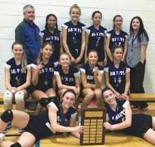 Saints win volleyball title