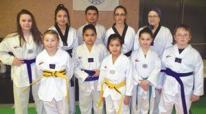 Taekwondo students kick it up a notch
