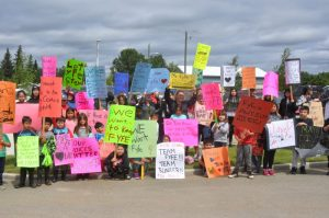 Gift Lake students stage walkout