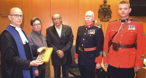 Feather accepted to honour Indigenous people