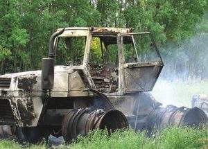 PICs – Arsonist leaves charred remains after torching property in Prairie Echo