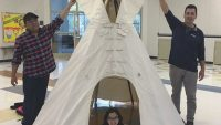 School's beloved tipi restored