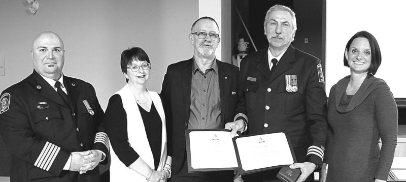 Enilda firefighters Bissell, Caudron earn top fire service awards