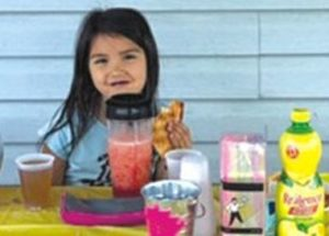 Little girl shows her heart is in right place