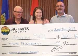 Joussard student awarded county bursary