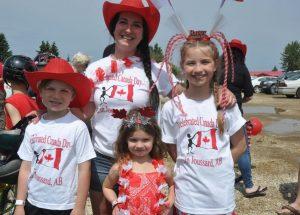 Red & white on full display at Joussard celebration