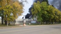 Fire ignites in old High Prairie hospital.