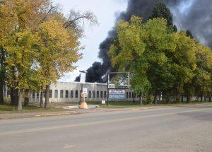 Fire ignites in old High Prairie hospital.
