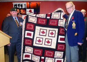 Sherington receives Quilt of Comfort