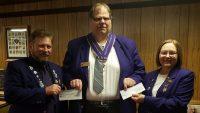 PICs – Royal Purple Elks donate