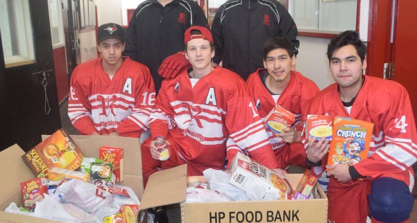 Food bank scores with Red Wings